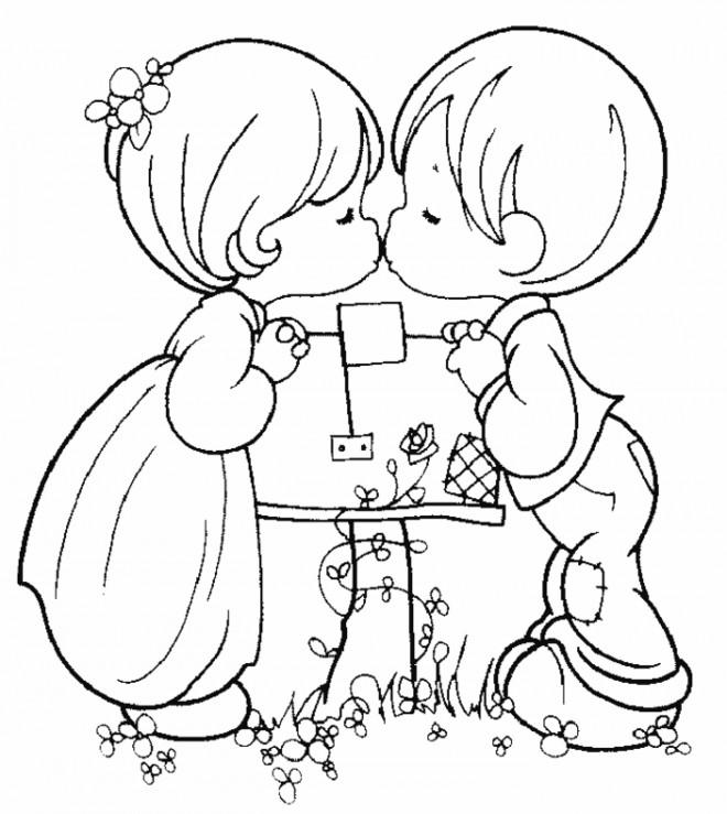 Coloriage et dessins gratuits I Love You pour Les Petits à imprimer