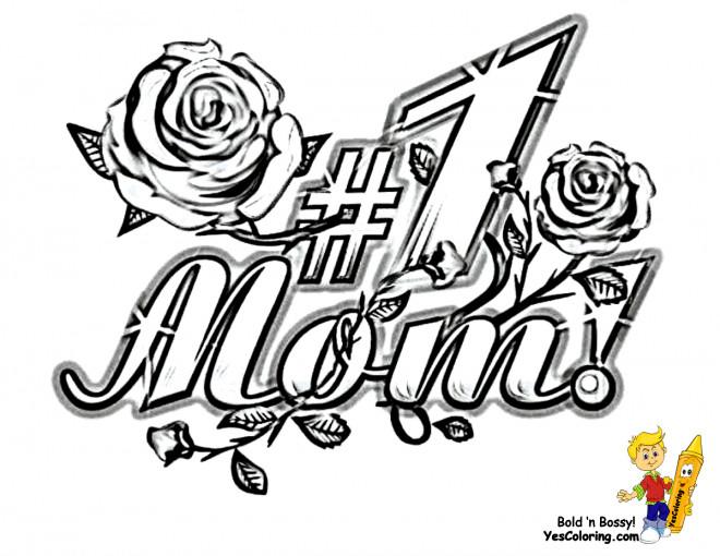 Coloriage et dessins gratuits I Love You pour Nos mères à imprimer