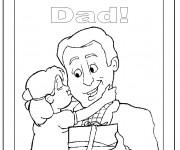 Coloriage Je T'aime pour Les Pères