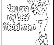Coloriage Les meilleurs sentiments pour Maman