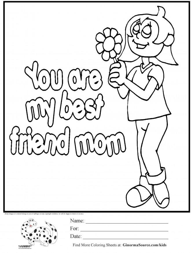 Coloriage et dessins gratuits Les meilleurs sentiments pour Maman à imprimer