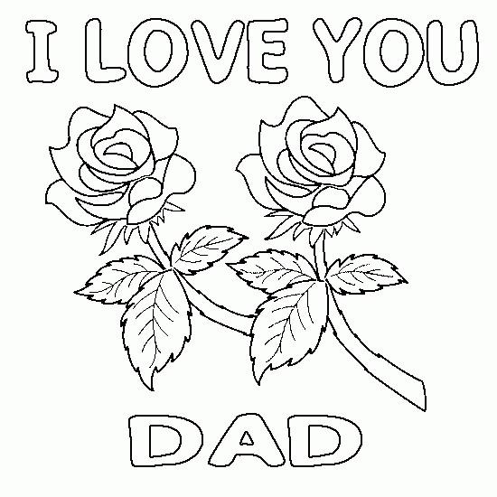 Coloriage et dessins gratuits Lettre d'amour pour Papa à imprimer