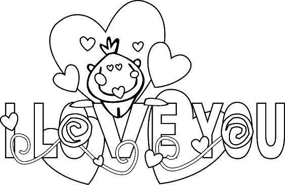 Coloriage et dessins gratuits Love à décorer à imprimer