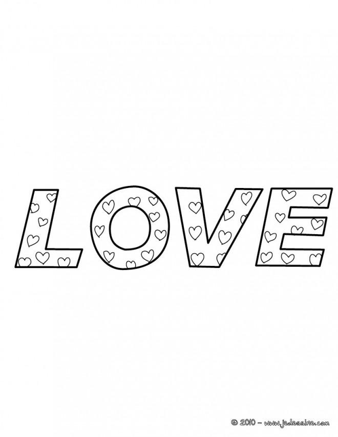 Coloriage et dessins gratuits Love Amour à imprimer