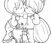Coloriage Love Enfants