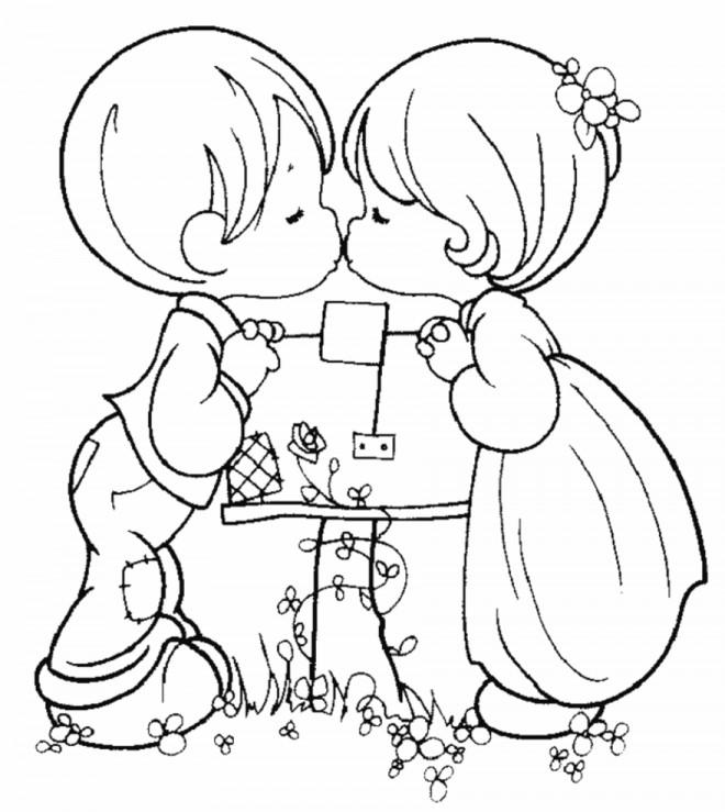 Coloriage et dessins gratuits Love Enfants à imprimer