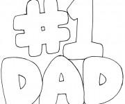 Coloriage Papa Numéro 1