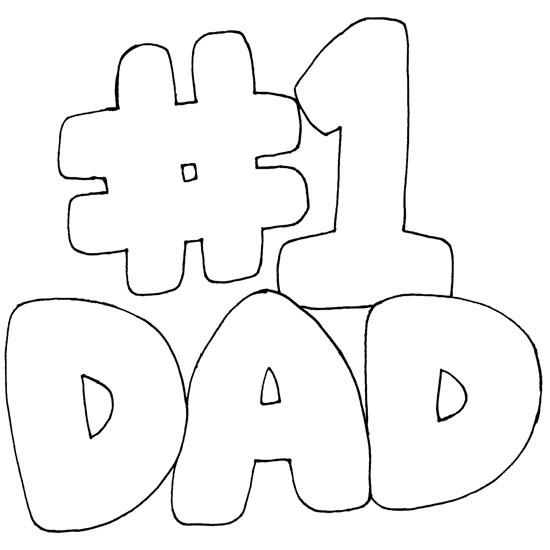 Coloriage et dessins gratuits Papa Numéro 1 à imprimer