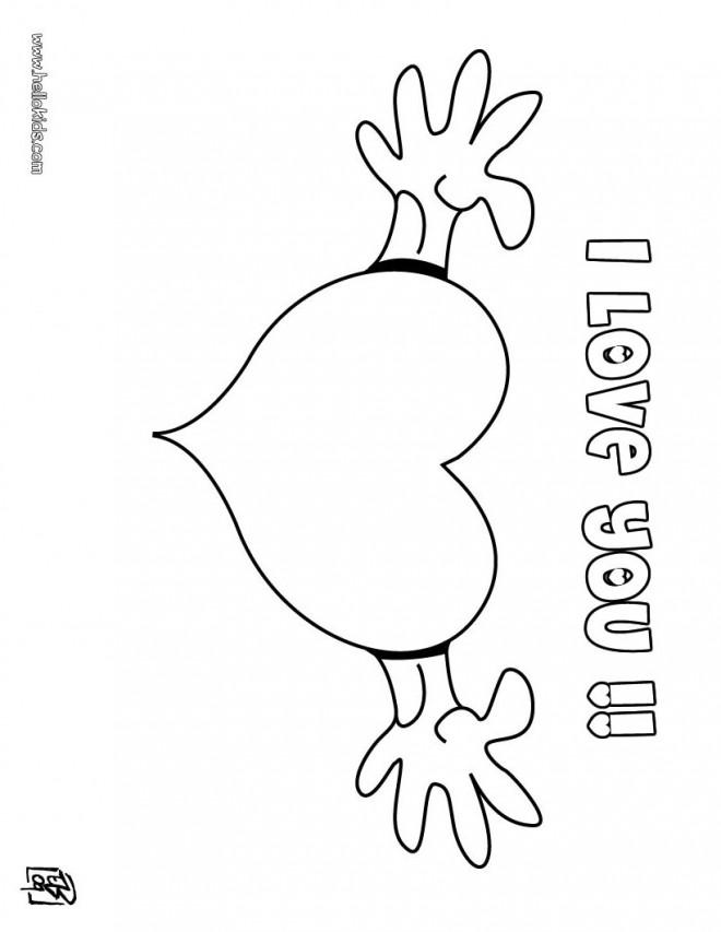 Coloriage et dessins gratuits Un Gros Coeur  stylisé à imprimer