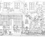 Coloriage et dessins gratuit Adulte Jardin Français à imprimer