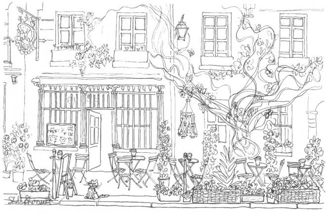 Coloriage Adulte Jardin Français dessin gratuit à imprimer