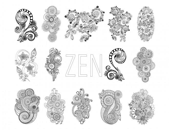 Coloriage et dessins gratuits Illustrations Inspiration Zen à imprimer