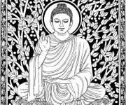 Coloriage et dessins gratuit Inspiration Zen Buddha à imprimer
