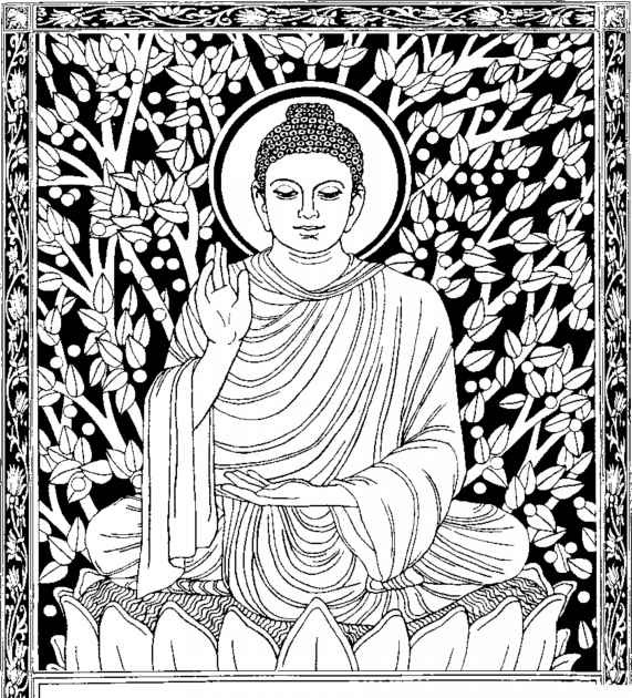Coloriage et dessins gratuits Inspiration Zen Buddha à imprimer