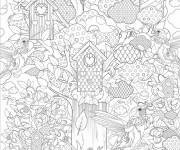 Coloriage et dessins gratuit Inspiration Zen couleur à imprimer