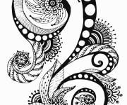 Coloriage et dessins gratuit Inspiration Zen en noir et blanc à imprimer