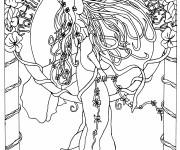 Coloriage et dessins gratuit Inspiration Zen L'existence à imprimer