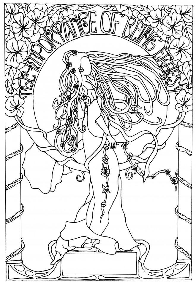Coloriage et dessins gratuits Inspiration Zen L'existence à imprimer