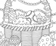 Coloriage et dessins gratuit Inspiration Zen Oeufs magiques à imprimer