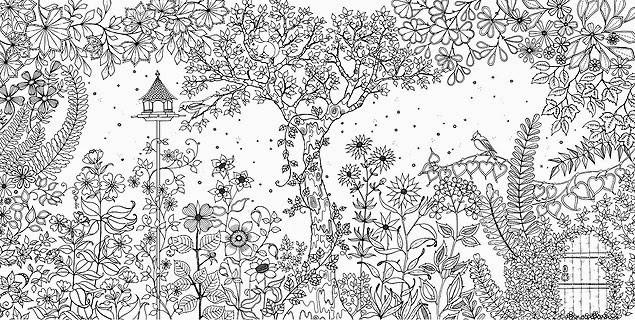 Coloriage et dessins gratuits Inspiration Zen Paysage de Jardin à imprimer