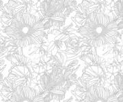 Coloriage et dessins gratuit Inspiration Zen Printemps à imprimer