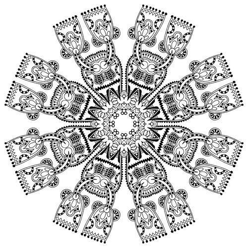 Coloriage et dessins gratuits Inspiration Zen Thérapeutique à imprimer