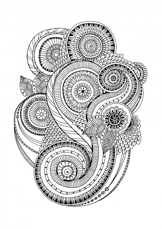 Coloriage et dessins gratuits Inspiration Zen vectoriel à imprimer