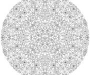 Coloriage et dessins gratuit Mandala Inspiration Zen à imprimer