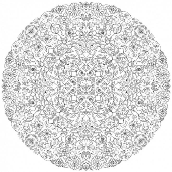 Coloriage et dessins gratuits Mandala Inspiration Zen à imprimer