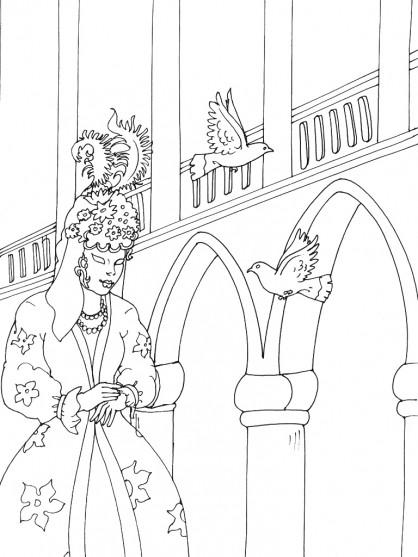 Coloriage et dessins gratuits Carnaval de Venise en Italie à imprimer