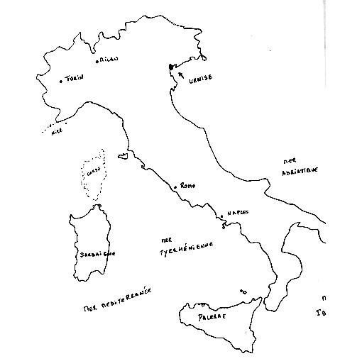 Coloriage et dessins gratuits Carte Italie à imprimer