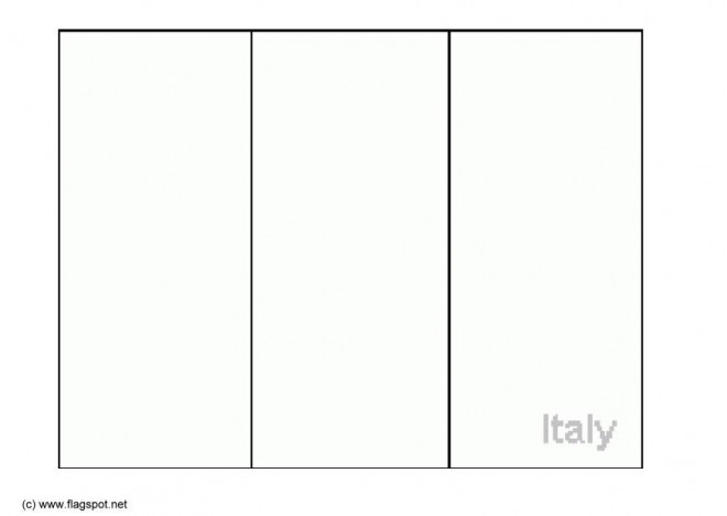Coloriage et dessins gratuits Drapeau Italie en ligne à imprimer