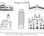 Coloriage et dessins gratuit Imagier de L'Italie à imprimer
