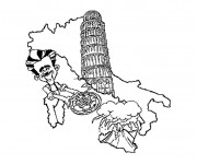 Coloriage dessin  Italie 1