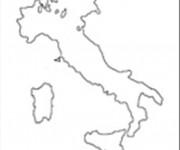 Coloriage et dessins gratuit Italie à découper à imprimer