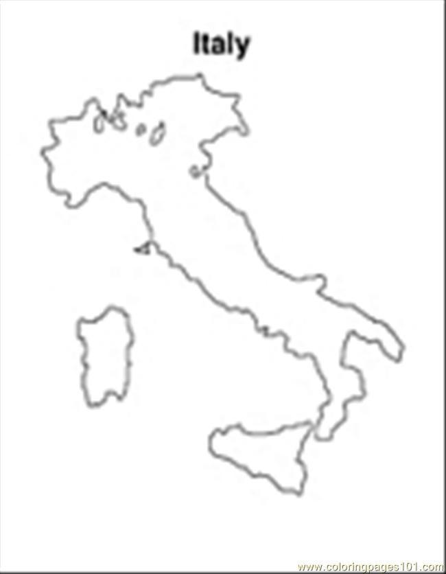 Coloriage et dessins gratuits Italie à découper à imprimer