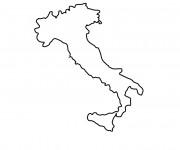 Coloriage Italie Carte simple