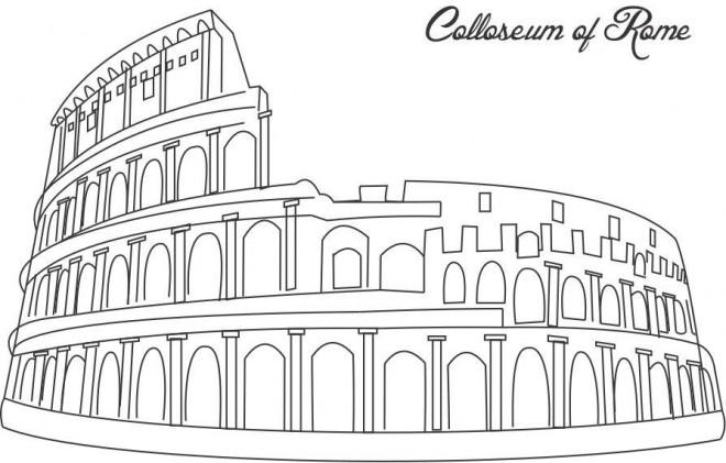 Coloriage et dessins gratuits Italie Coliseum de Rome à imprimer