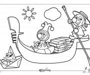 Coloriage et dessins gratuit Italie Dessin Animé à imprimer
