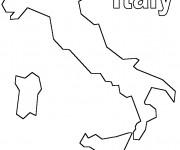 Coloriage Italie en noir et blanc