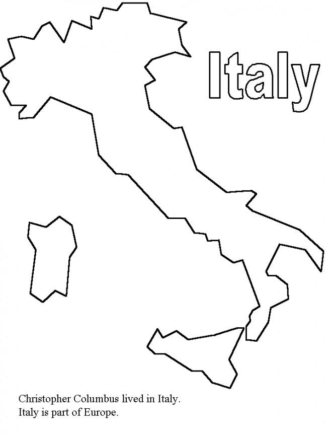 Coloriage et dessins gratuits Italie en noir et blanc à imprimer