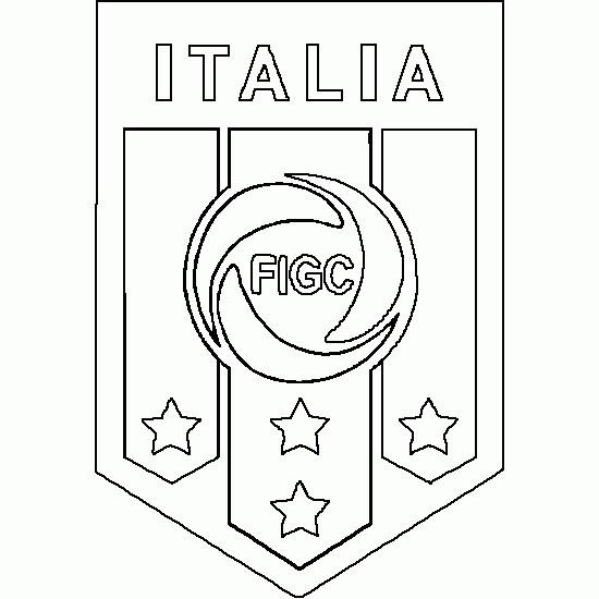 Coloriage et dessins gratuits Italie Foot facile à imprimer