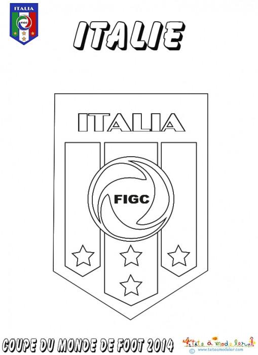 Coloriage et dessins gratuits Italie Football à imprimer