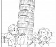 Coloriage et dessins gratuit Italie La tour de Pise à imprimer