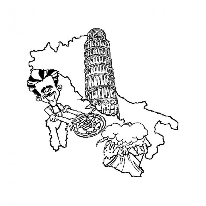 Coloriage et dessins gratuits Italie maternelle à imprimer
