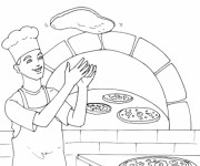 Coloriage Italie Pizza