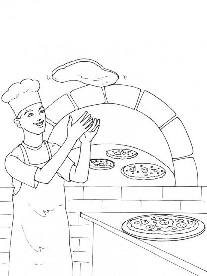 Coloriage et dessins gratuits Italie Pizza à imprimer