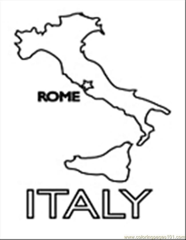 Coloriage et dessins gratuits Italie Rome à imprimer