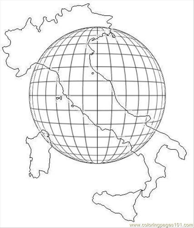 Coloriage et dessins gratuits Italie stylisé à imprimer