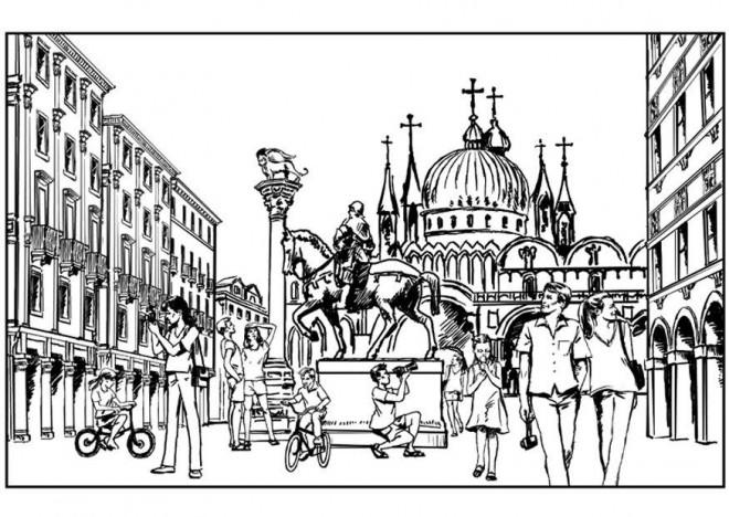 Coloriage et dessins gratuits Italie Vatican à imprimer
